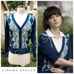ASO Summer 500 Days of Summer Blue V-Neck Cardigan